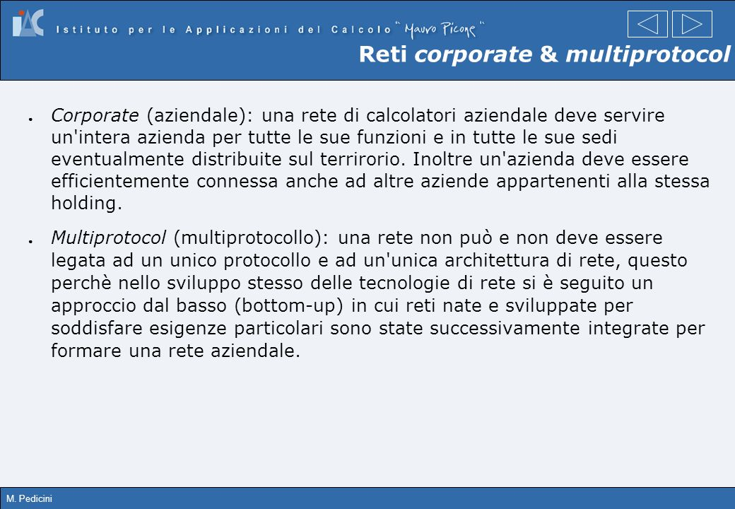 Reti corporate & multiprotocol