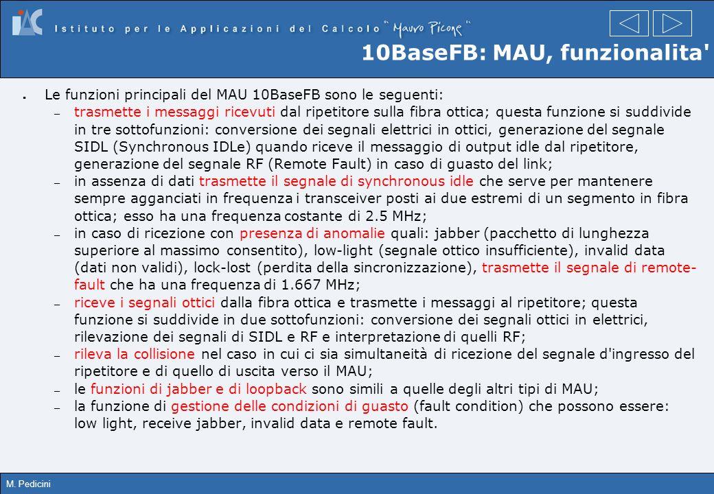 10BaseFB: MAU, funzionalita