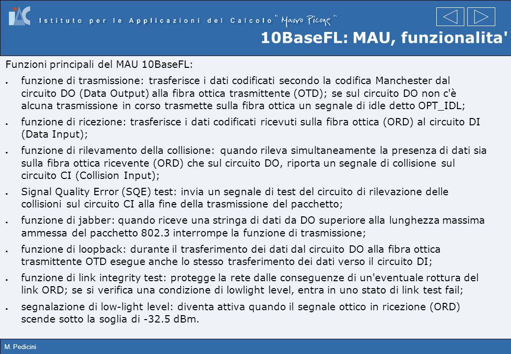 10BaseFL: MAU, funzionalita