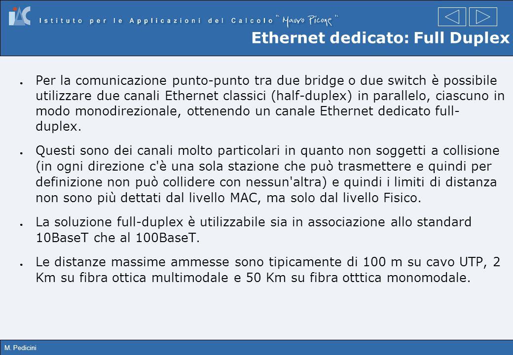 Ethernet dedicato: Full Duplex