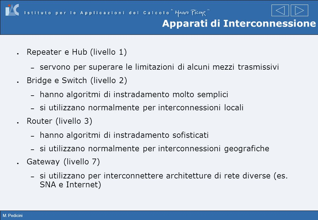 Apparati di Interconnessione