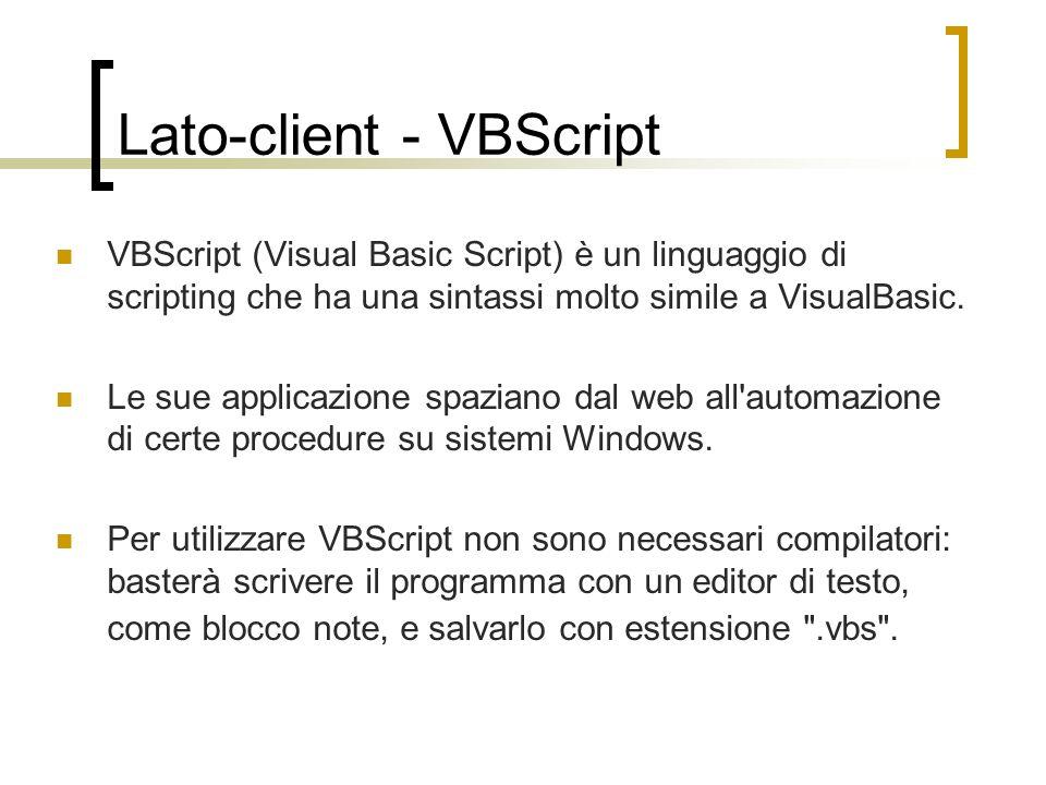 Lato-client - VBScript
