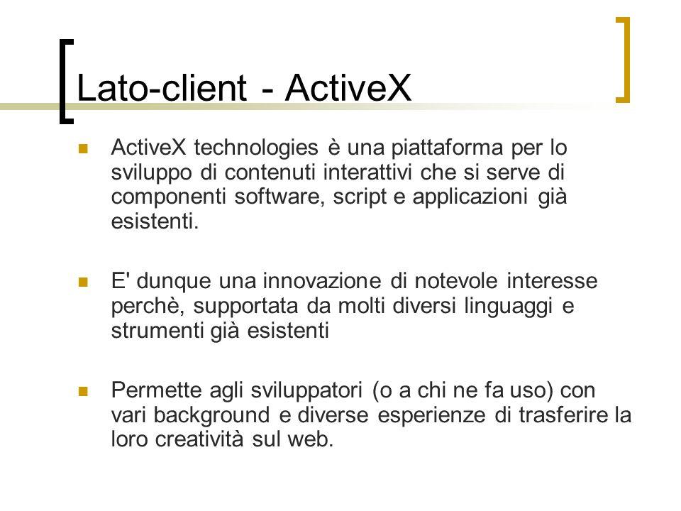 Lato-client - ActiveX