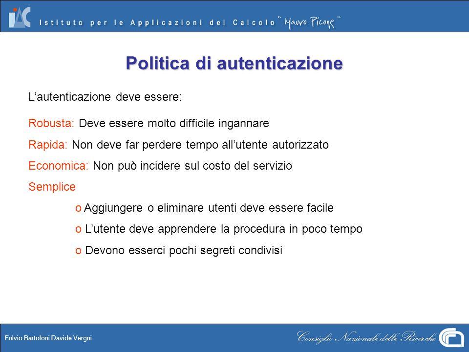 Politica di autenticazione