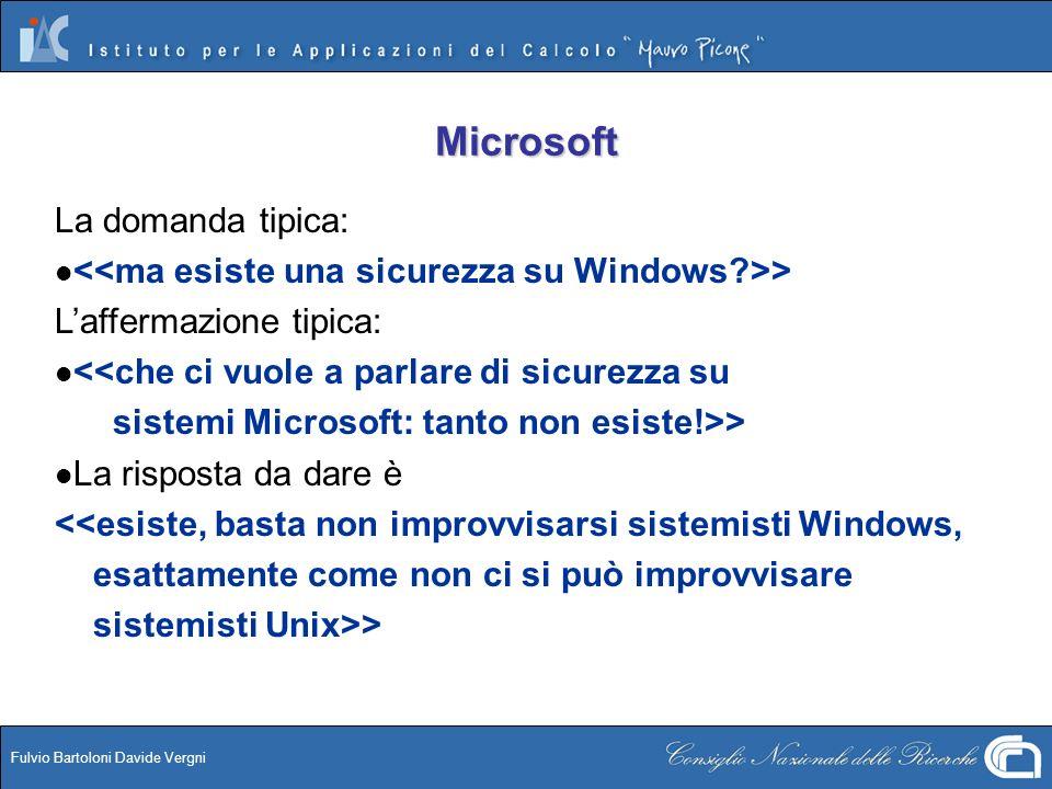 Microsoft La domanda tipica: