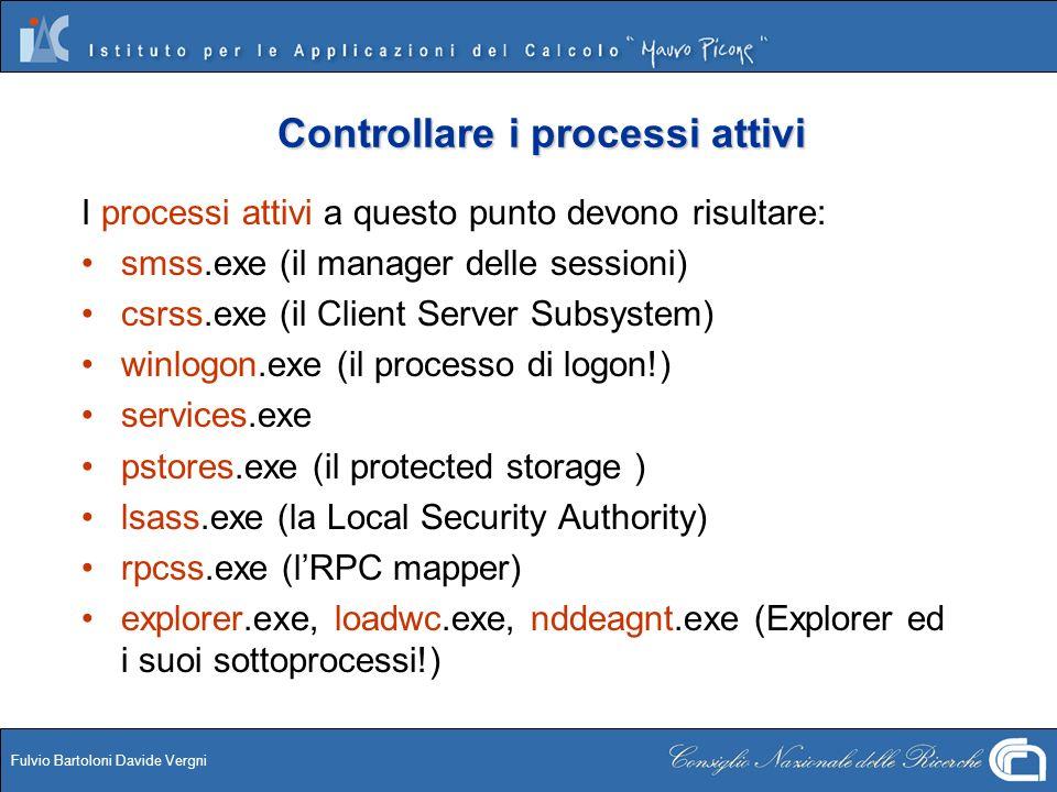 Controllare i processi attivi