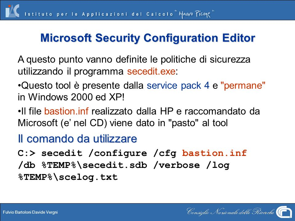Microsoft Security Configuration Editor