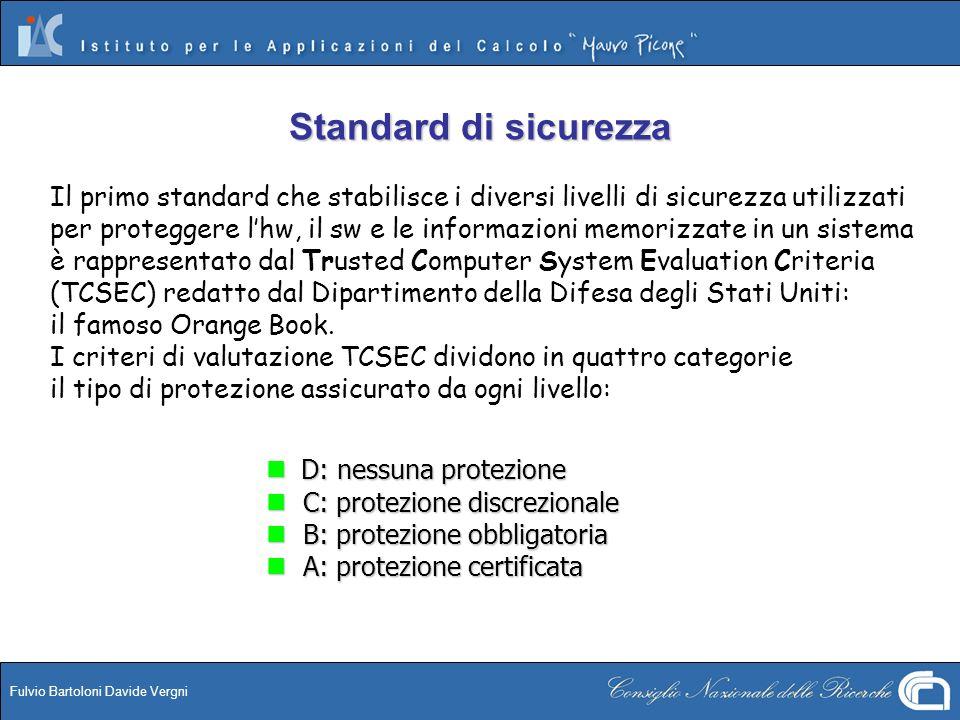 Standard di sicurezza Il primo standard che stabilisce i diversi livelli di sicurezza utilizzati.
