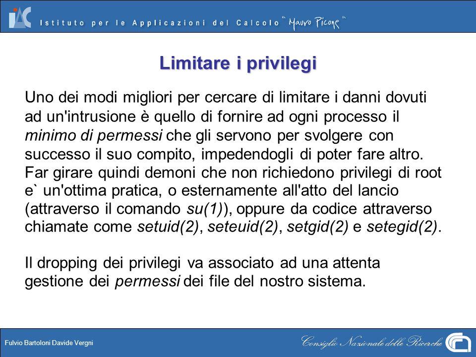 Limitare i privilegi