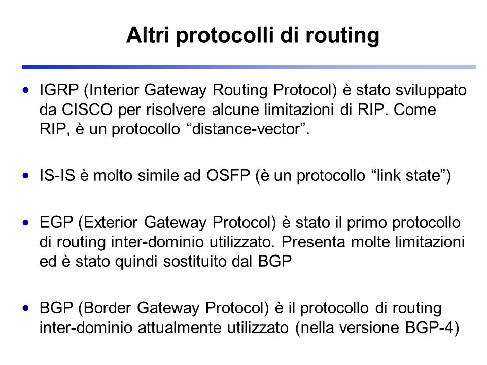 Part A Internetworking Routing Ip Ppt Scaricare