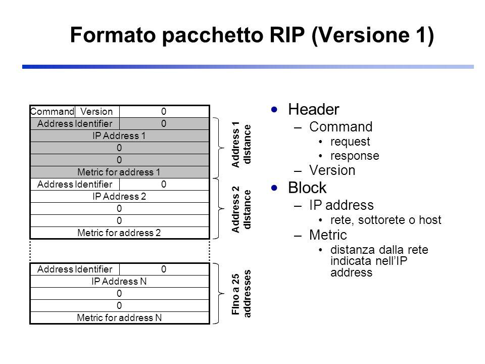 Formato pacchetto RIP (Versione 1)