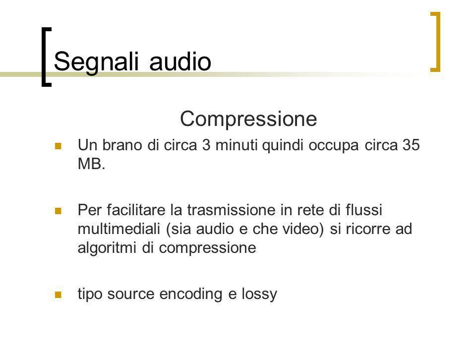 Segnali audio Compressione