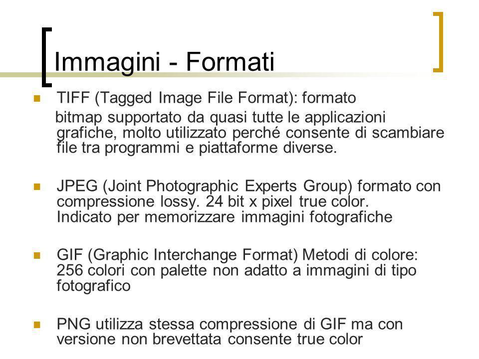 Immagini - Formati TIFF (Tagged Image File Format): formato