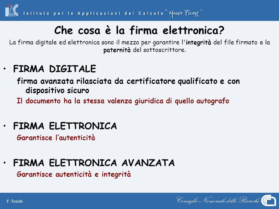 Che cosa è la firma elettronica