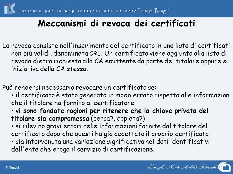 Meccanismi di revoca dei certificati