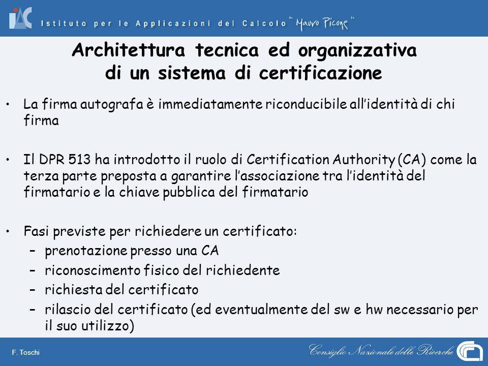 Architettura tecnica ed organizzativa di un sistema di certificazione