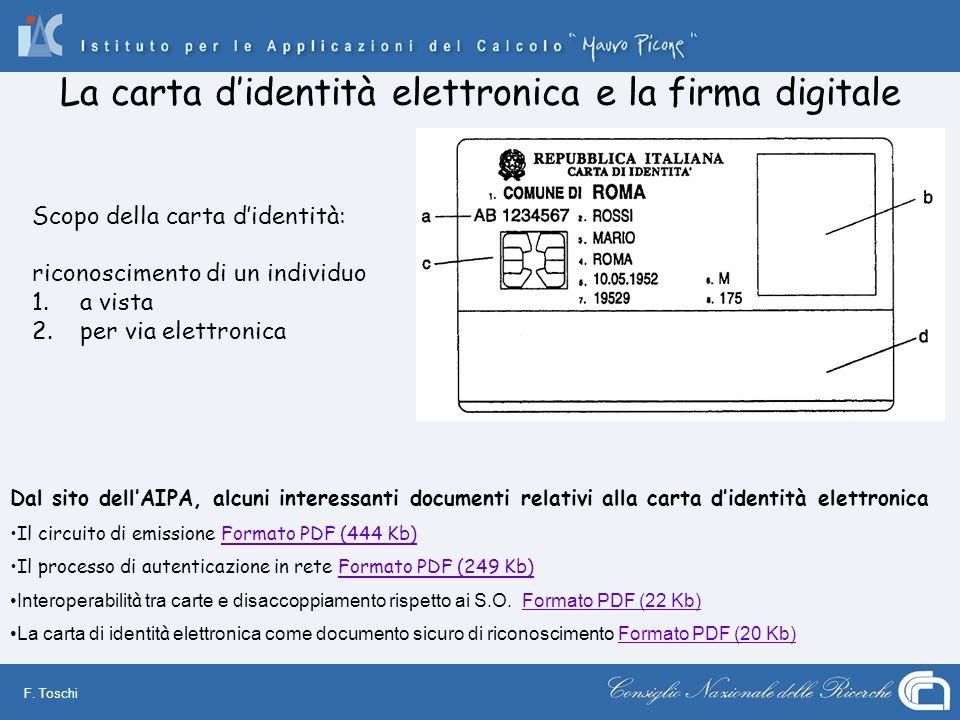 La carta d'identità elettronica e la firma digitale