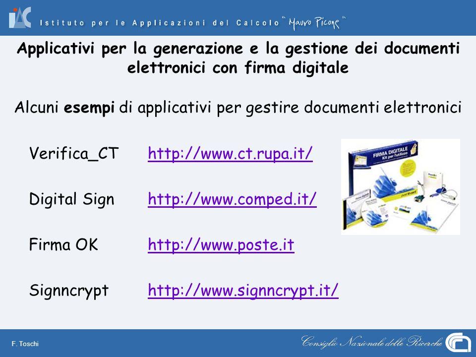Alcuni esempi di applicativi per gestire documenti elettronici