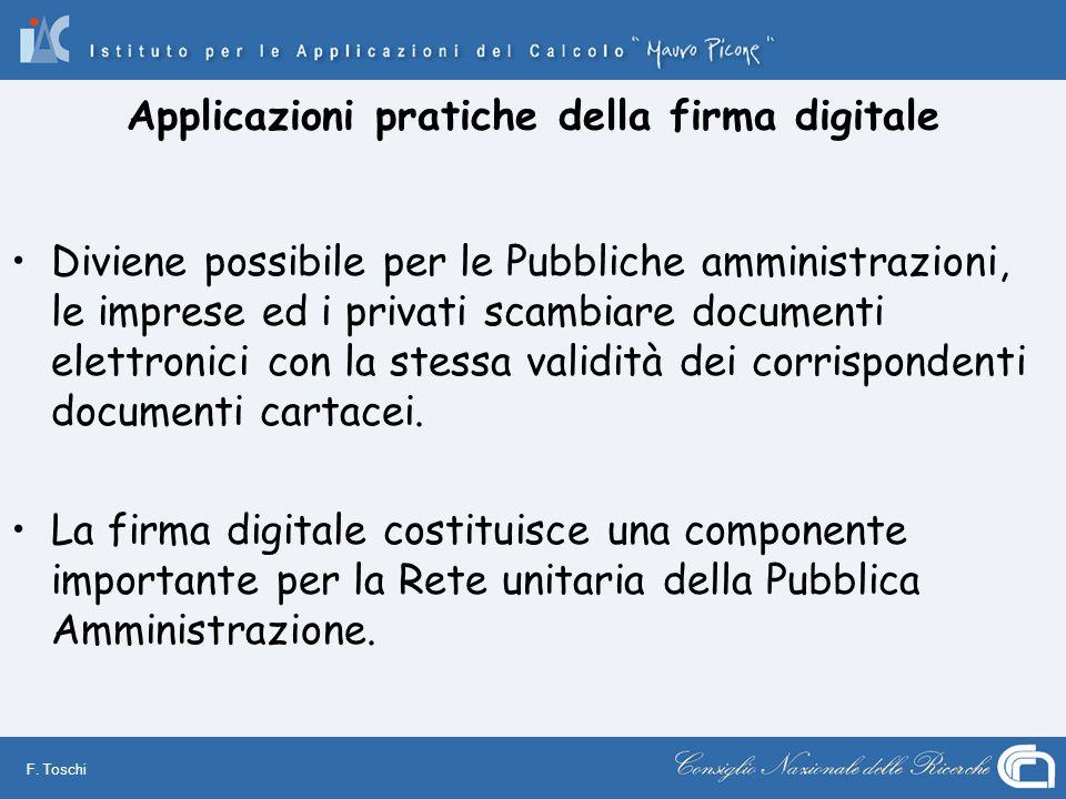 Applicazioni pratiche della firma digitale