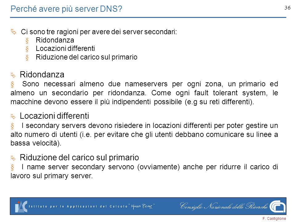 Perché avere più server DNS