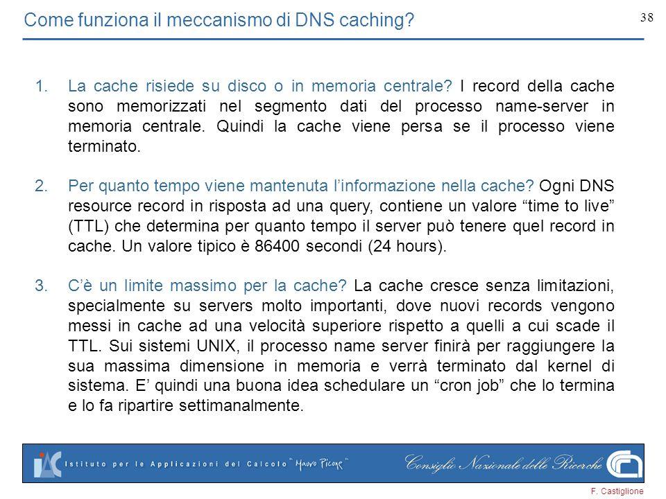Come funziona il meccanismo di DNS caching