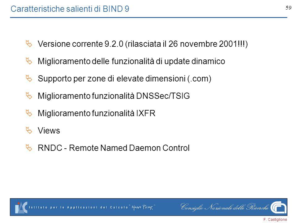 Caratteristiche salienti di BIND 9