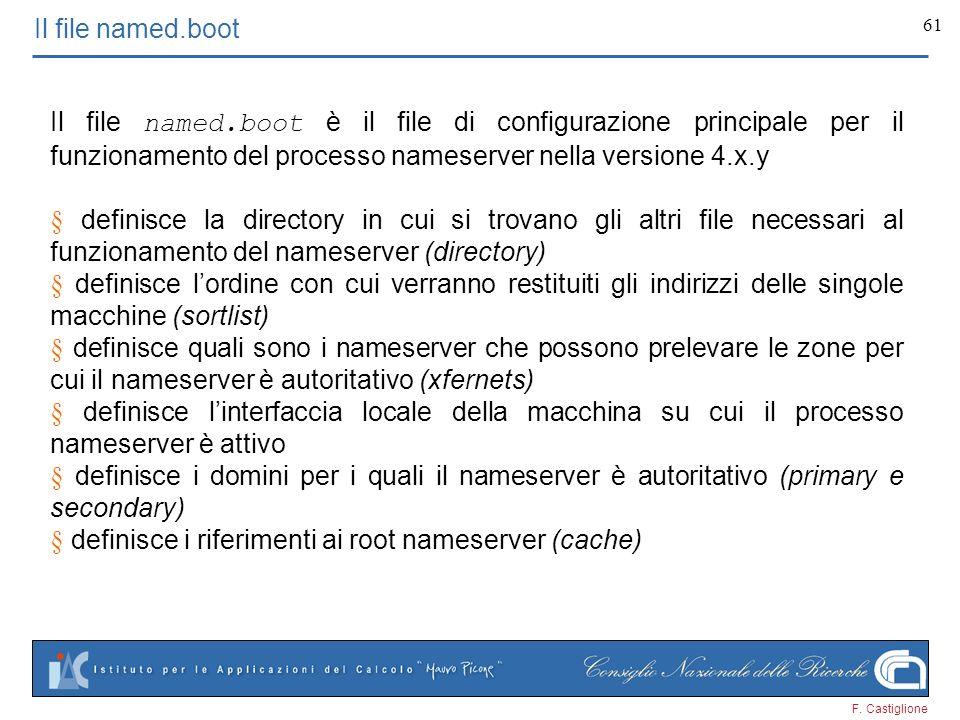 § definisce i riferimenti ai root nameserver (cache)