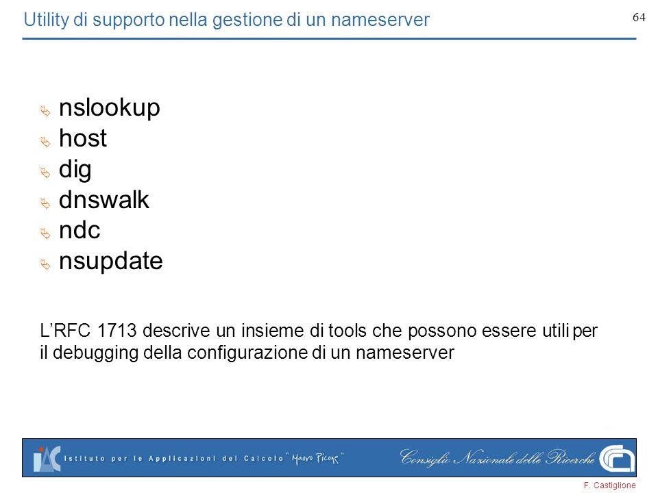 Utility di supporto nella gestione di un nameserver