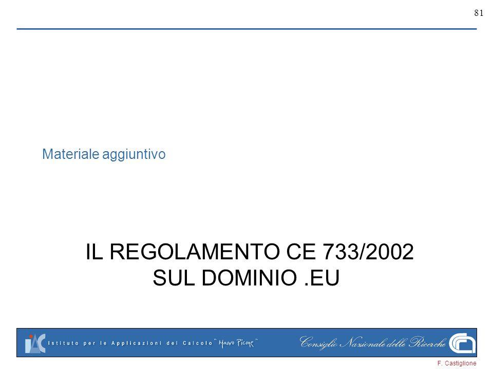 IL REGOLAMENTO CE 733/2002 SUL DOMINIO .EU