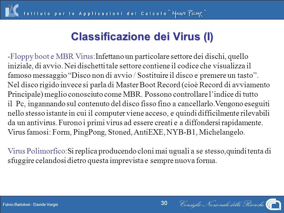 Classificazione dei Virus (I)