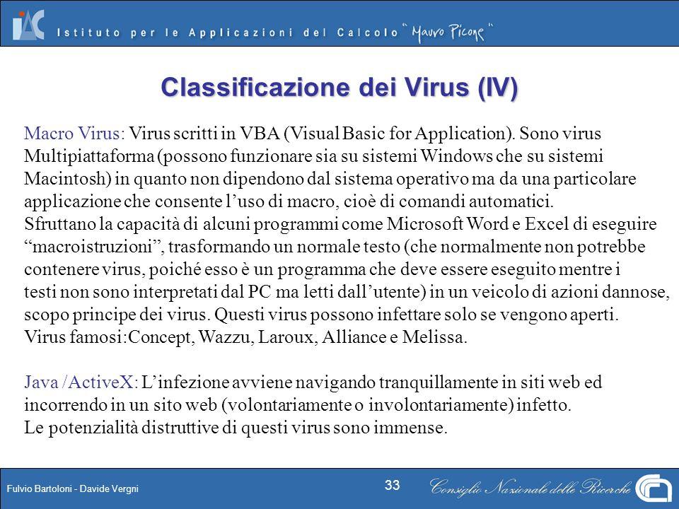 Classificazione dei Virus (IV)