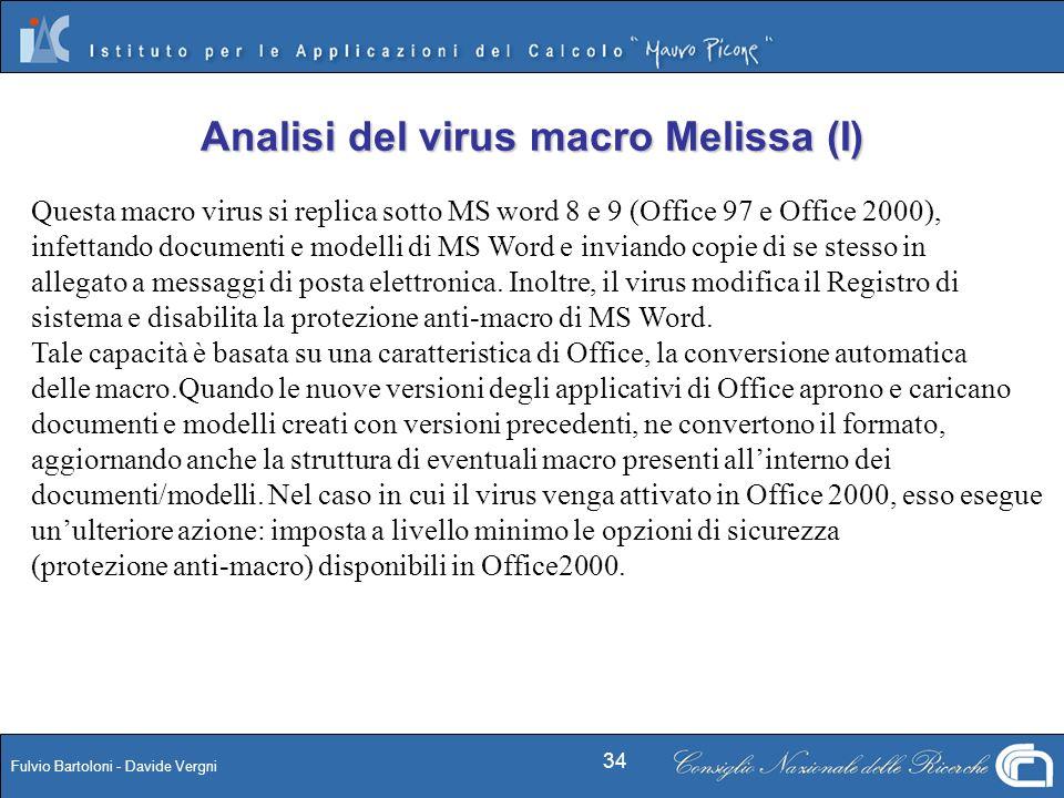 Analisi del virus macro Melissa (I)