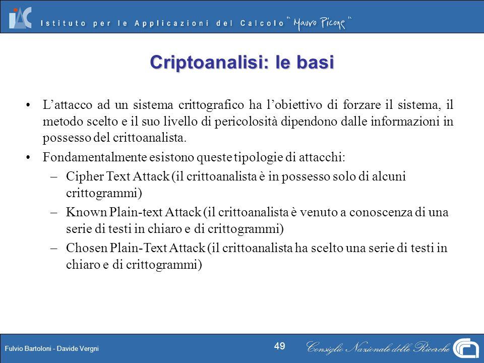Criptoanalisi: le basi