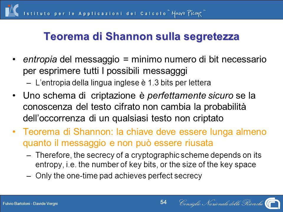 Teorema di Shannon sulla segretezza