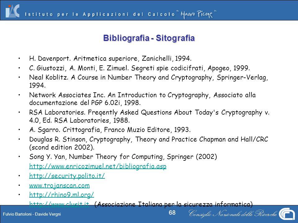 Bibliografia - Sitografia