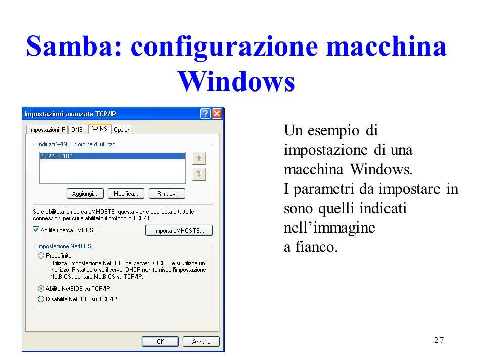 Samba: configurazione macchina Windows