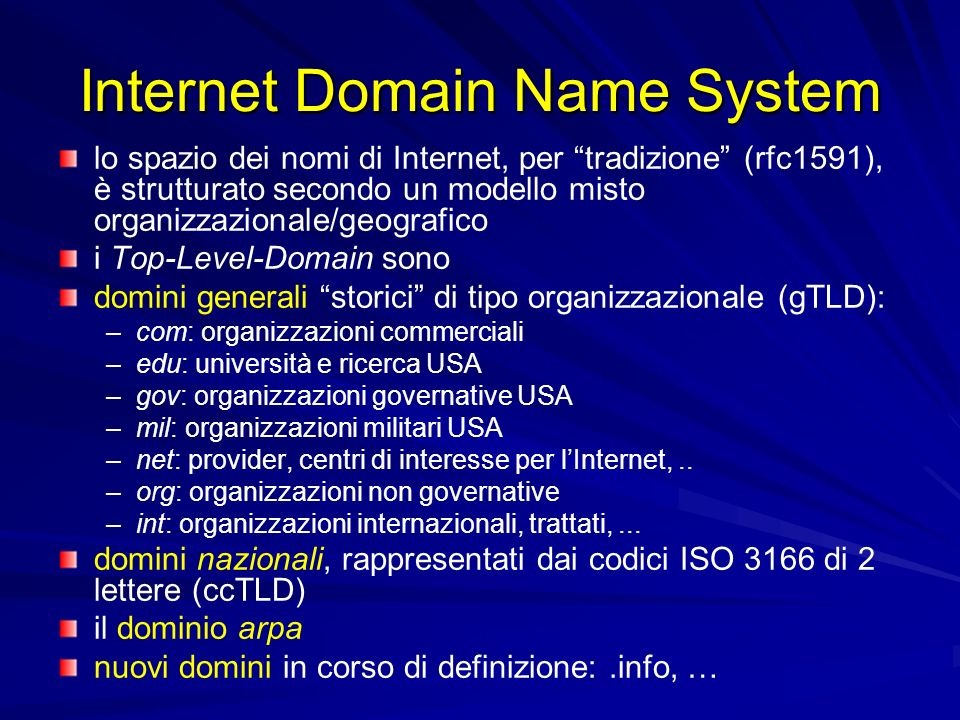 Internet Domain Name System