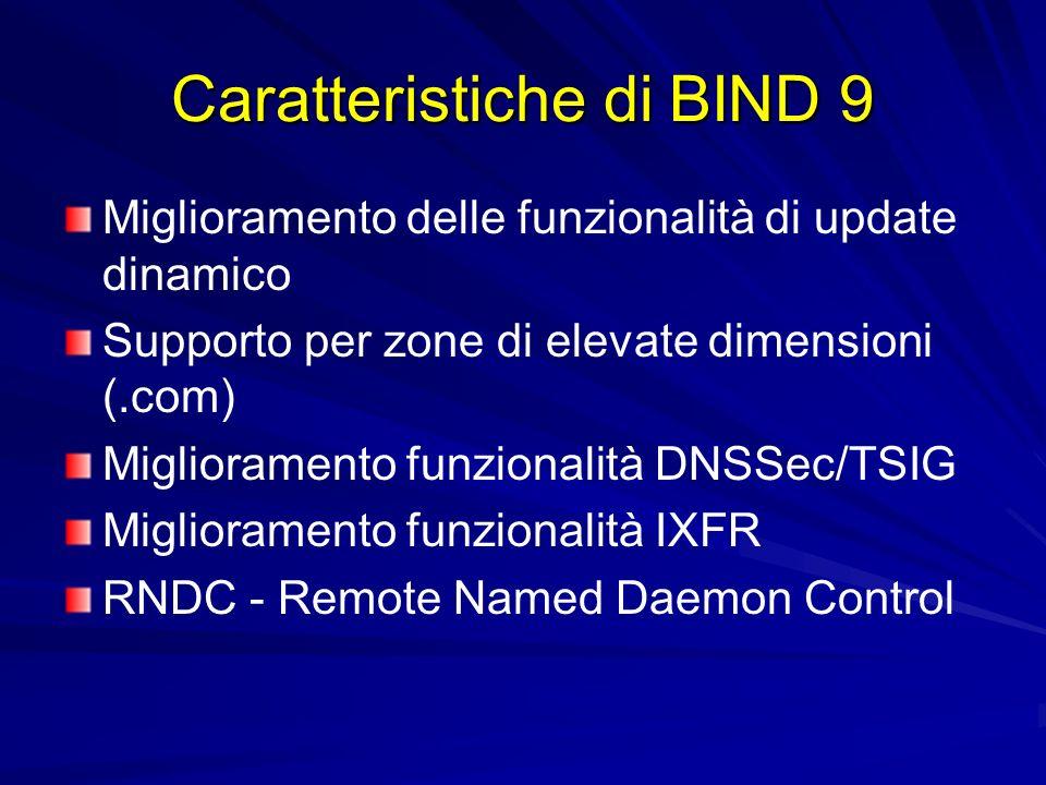 Caratteristiche di BIND 9