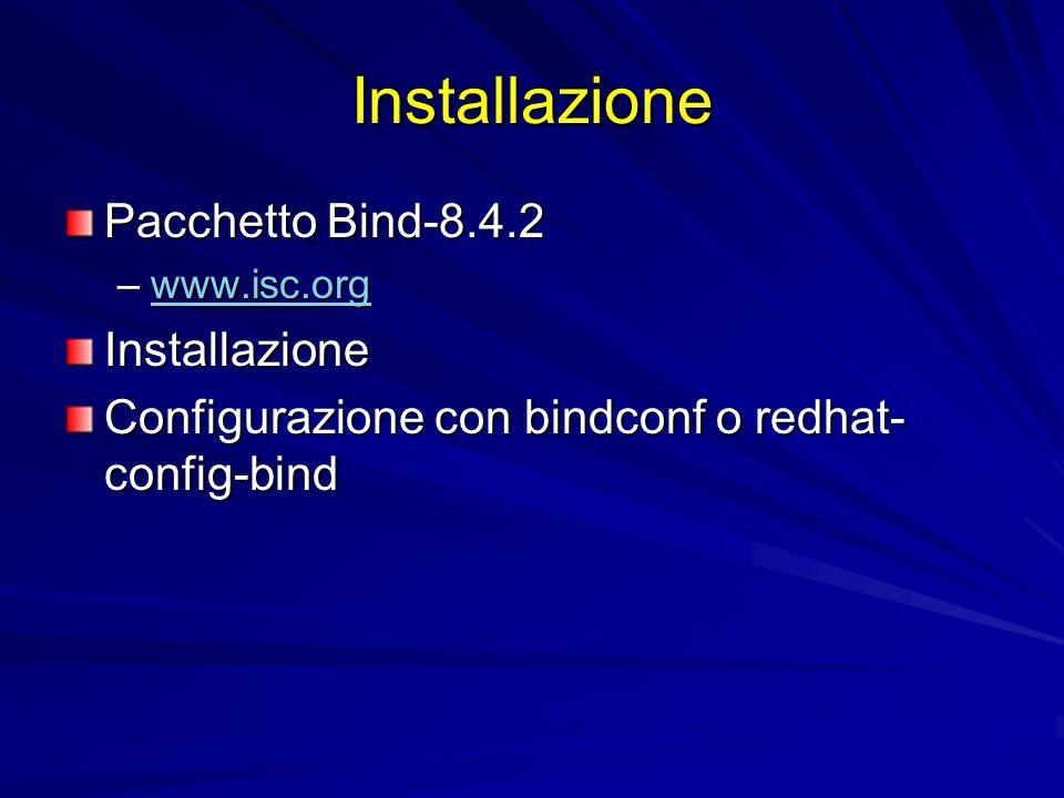 Installazione Pacchetto Bind-8.4.2 Installazione