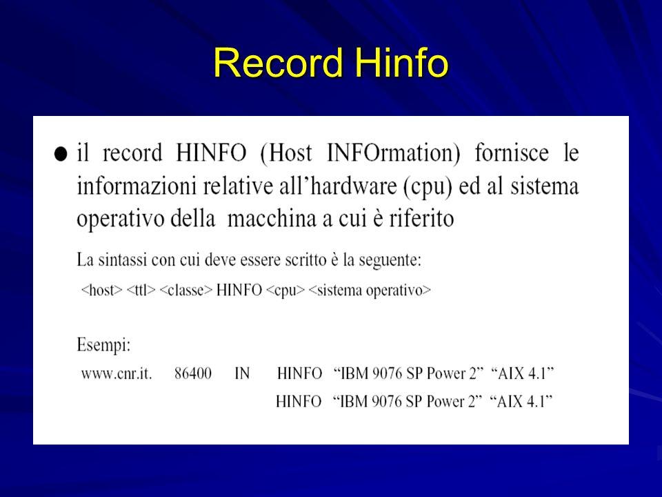 Record Hinfo