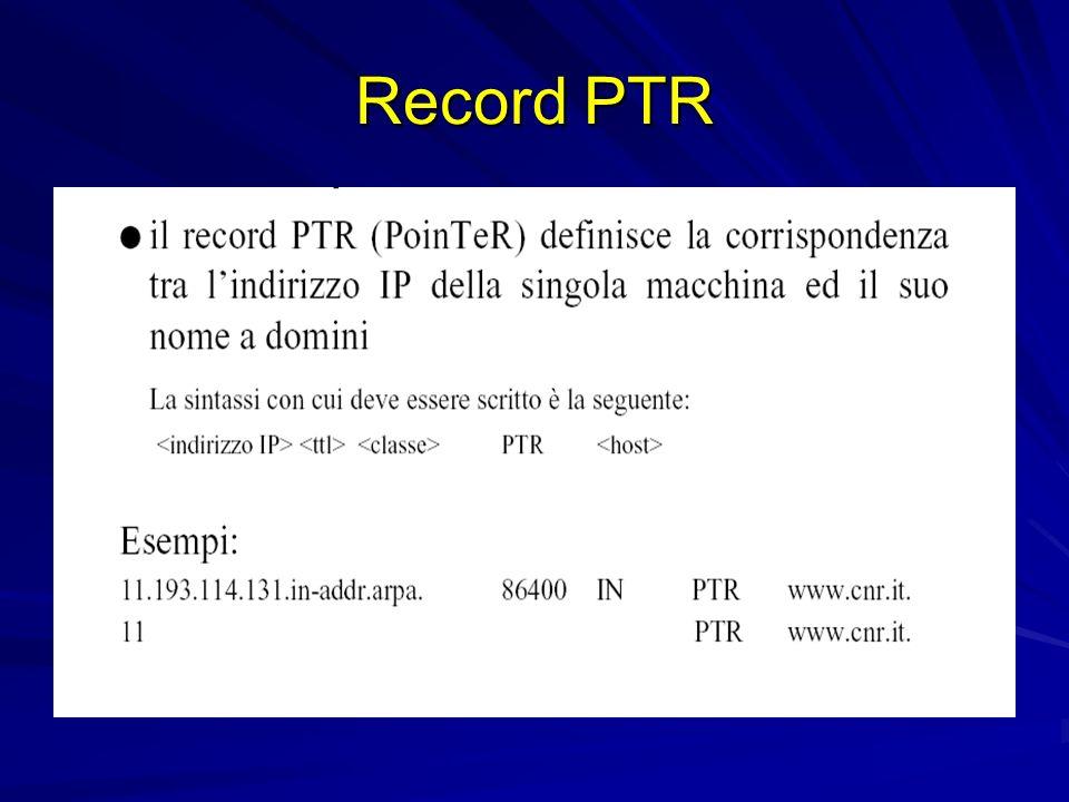 Record PTR
