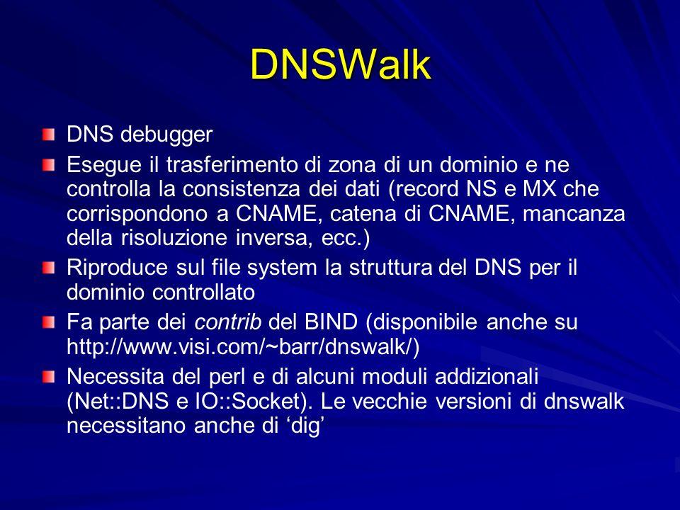 DNSWalk DNS debugger.