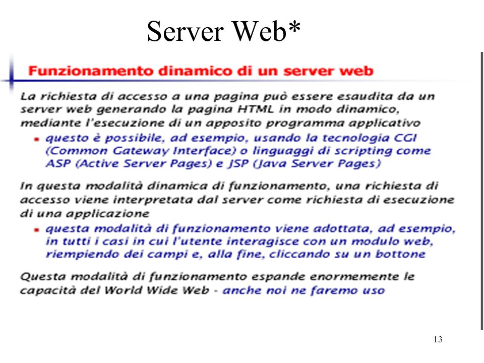 Server Web*