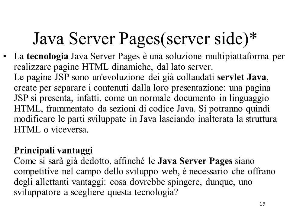Java Server Pages(server side)*