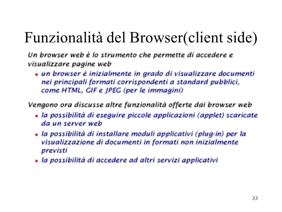 Funzionalità del Browser(client side)