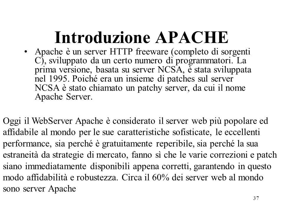 Introduzione APACHE