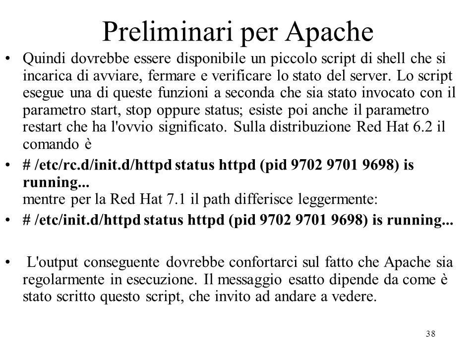 Preliminari per Apache