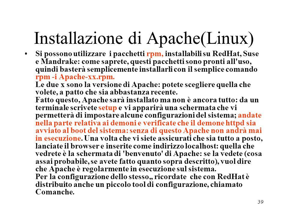 Installazione di Apache(Linux)