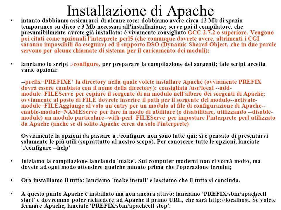 Installazione di Apache