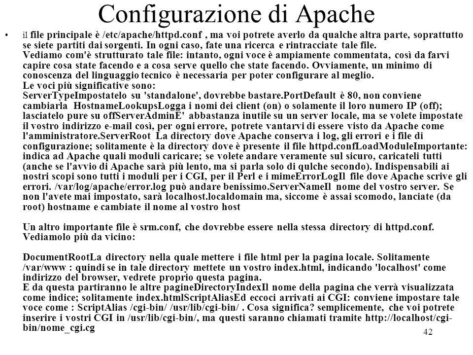 Configurazione di Apache